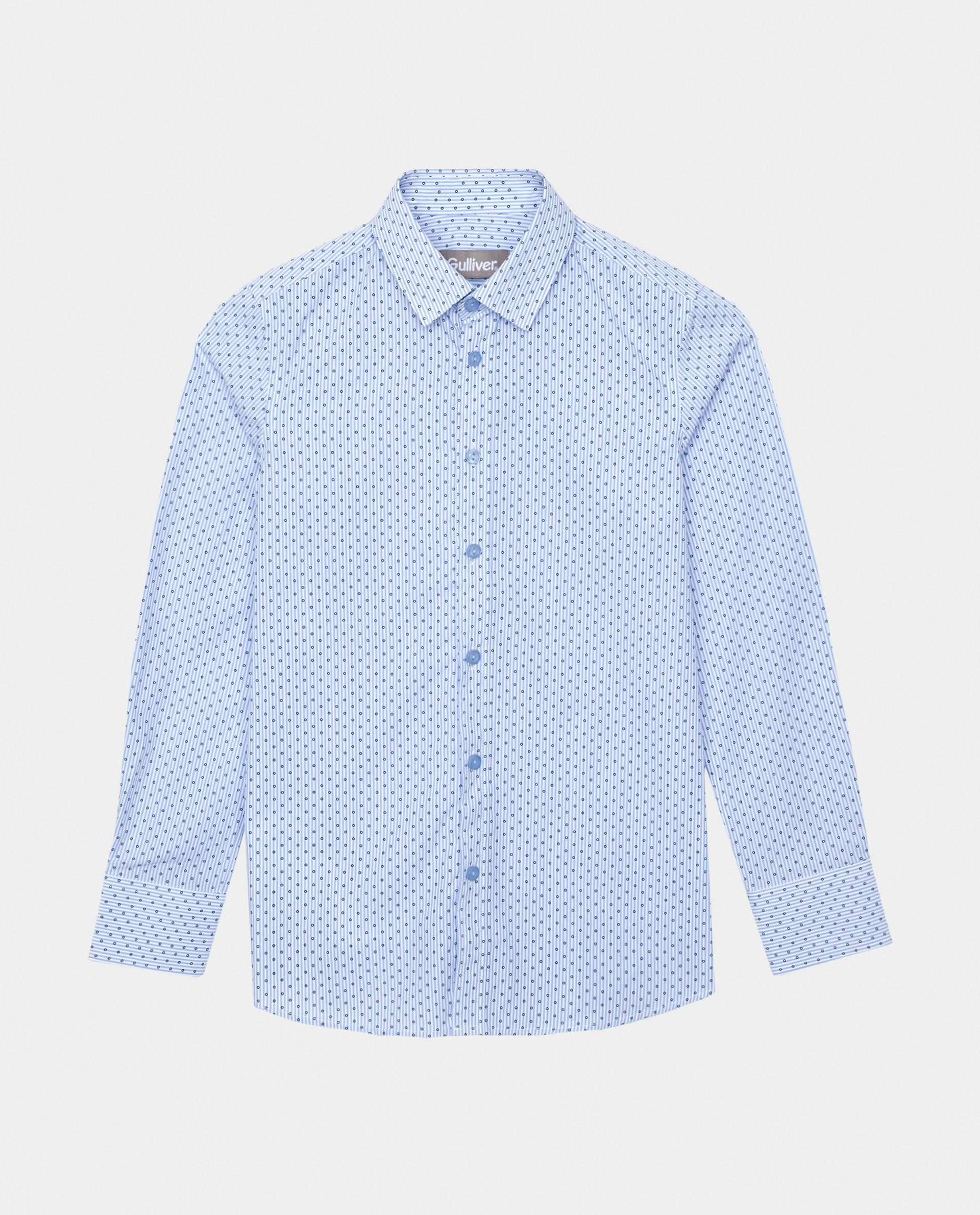 Голубая рубашка в горошек Gulliver, модель 220GSBC2301, р. 152