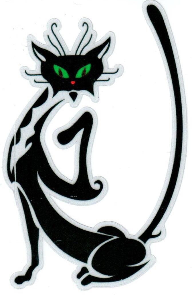 Наклейка светоотражающая Mashinokom Кошка сидит NKT 7014