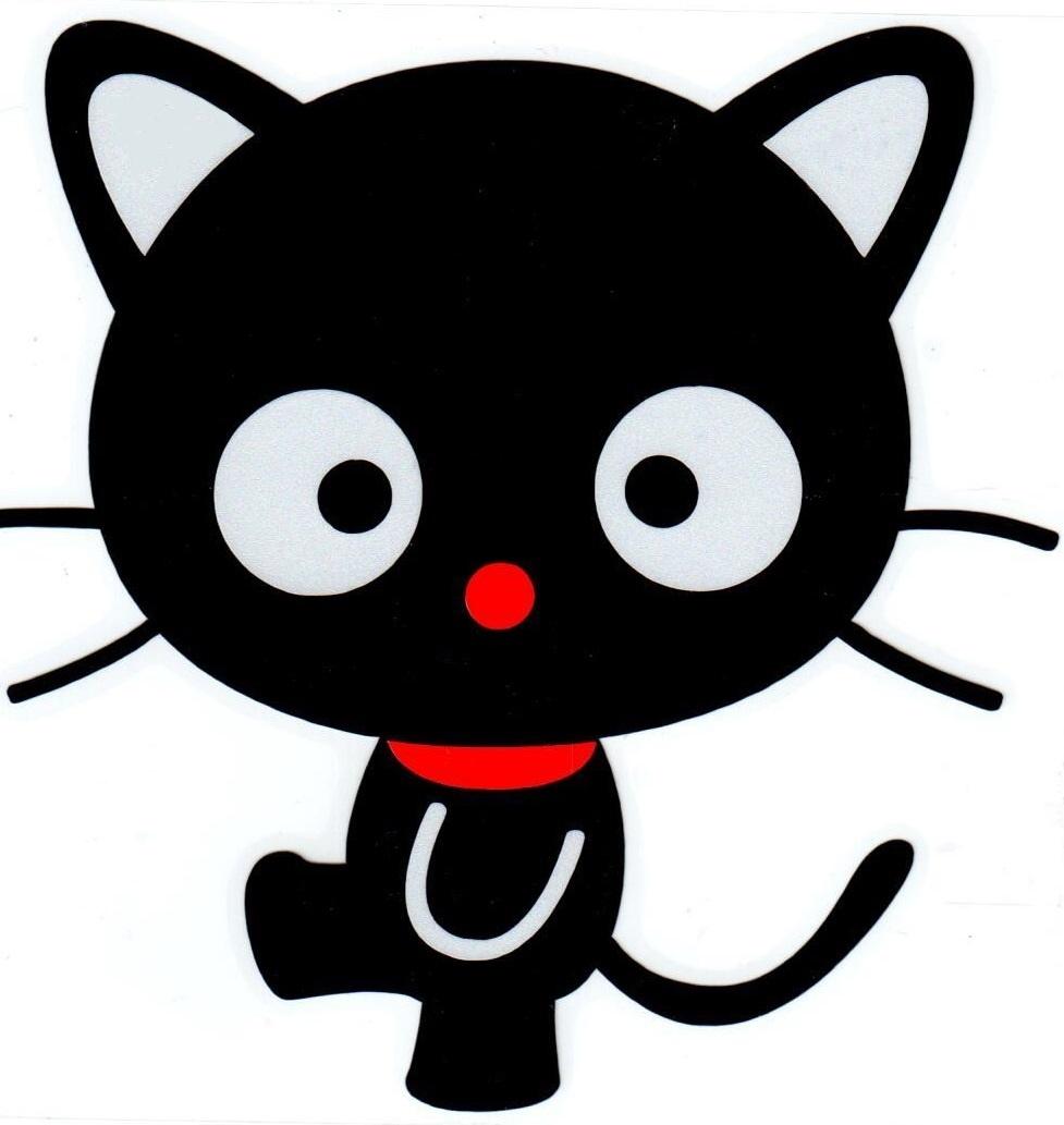 Наклейка светоотражающая Mashinokom Черный котик NKT 0861