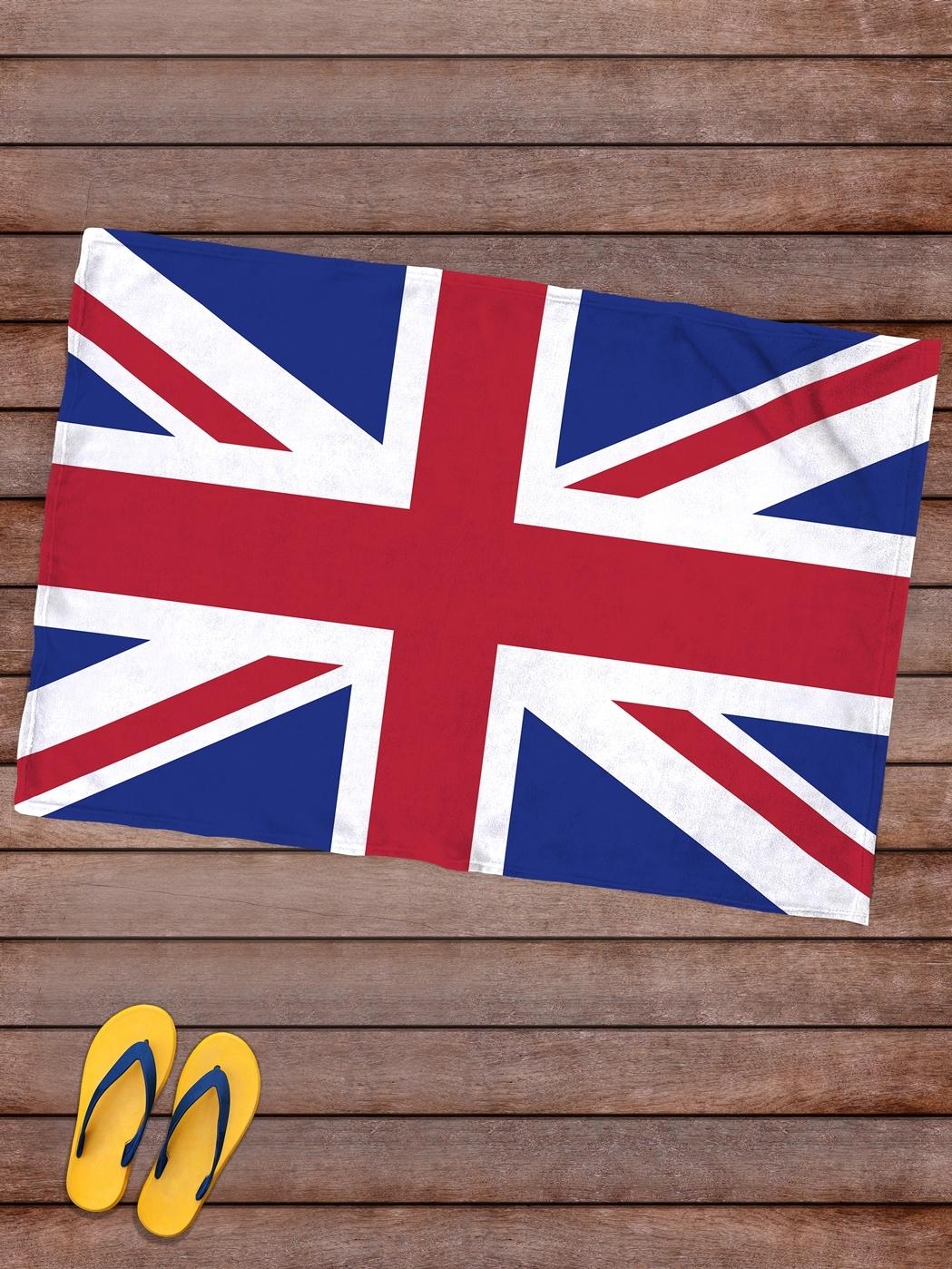 Плед покрывало пляжное для пикника флис 145х100 Флаг Великобритании- обзор, преимущества, отзывы. Заказать товар за 1426 руб. Бренд sfer.tex