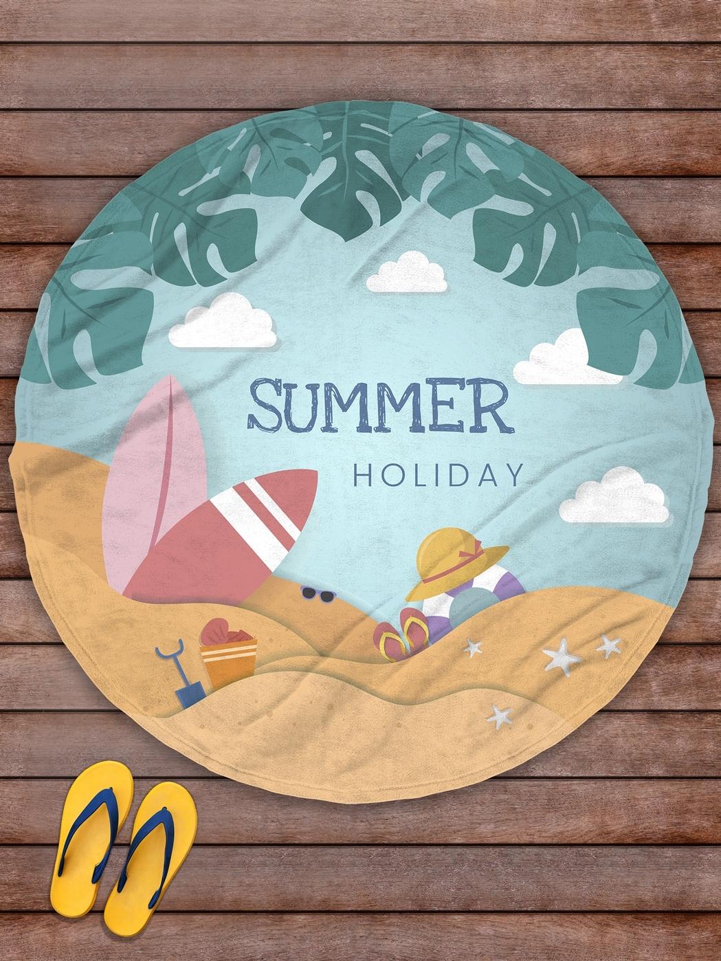 Плед покрывало пляжное для пикника флис д.145 Summer Holiday- обзор, преимущества, отзывы. Заказать товар за 1829 руб. Бренд sfer.tex