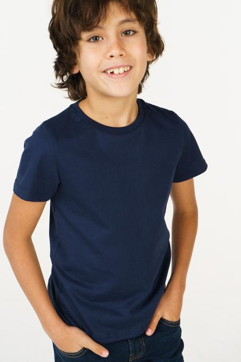 Футболка для мальчика Bossa Nova, цв.синий, р-р 122