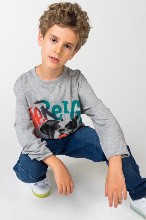 Футболка для мальчика Boboli, цв.серый, р