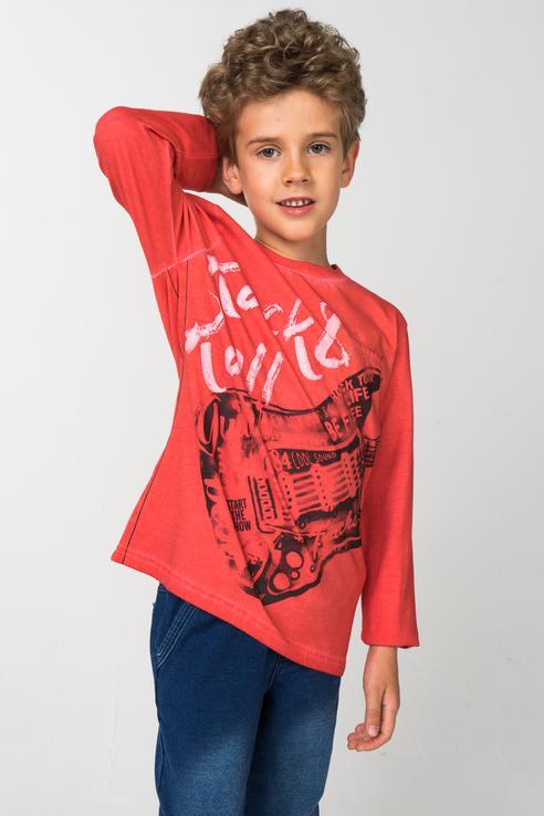 Футболка для мальчика Boboli, цв.розовый, р