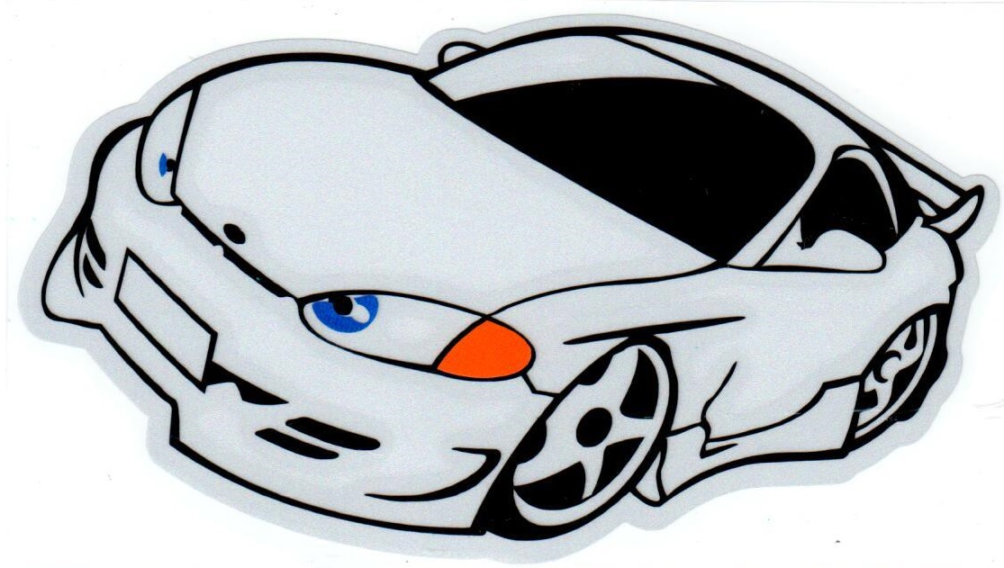 Наклейка светоотражающая Mashinokom  Машинка белая NKT 0316