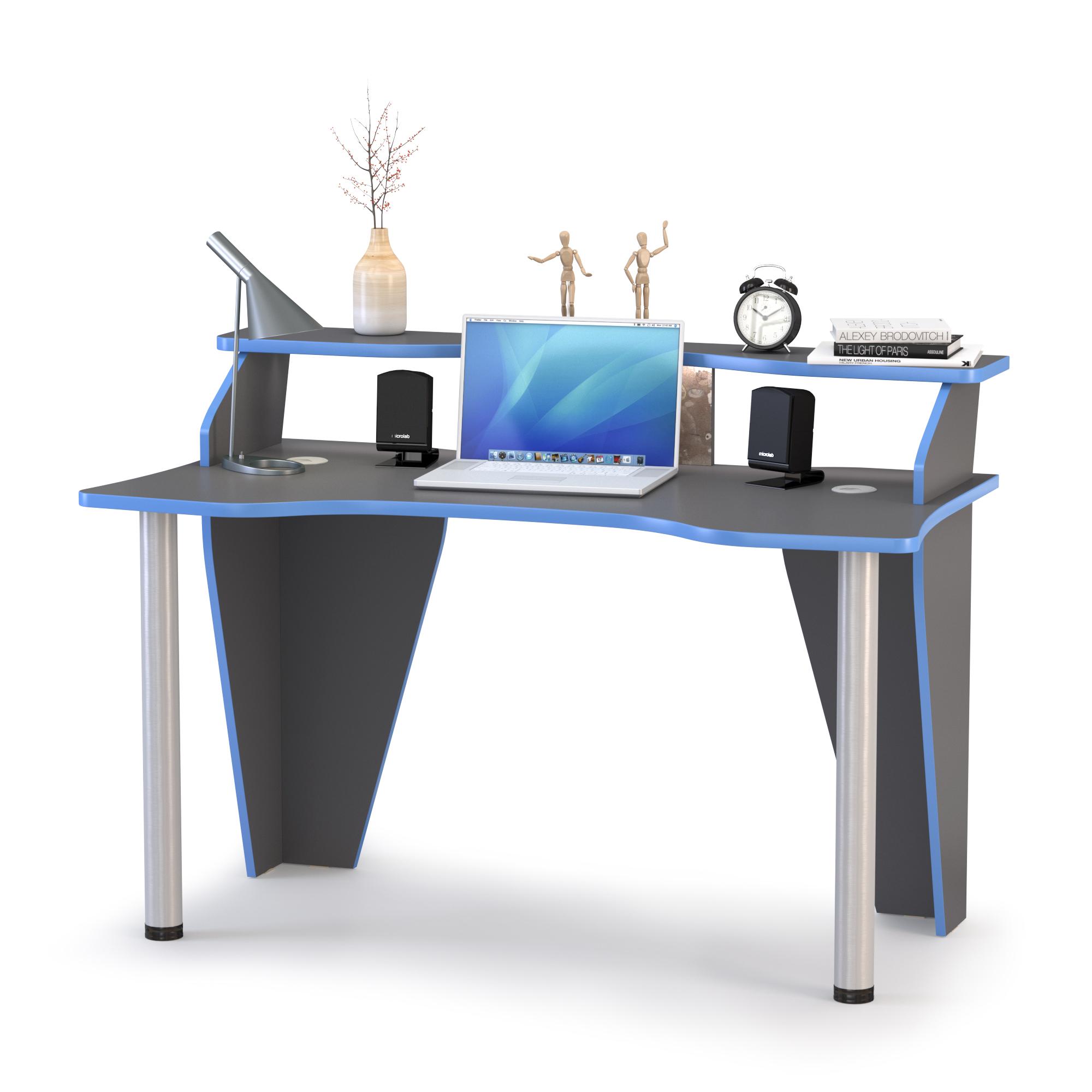 Стол компьютерный Mobi Индиго 12.61 тёмно серый/граффити,