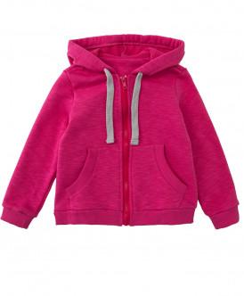 Купить 219BBGC16044200, Толстовка для девочек Button Blue, цв. розовый, р-р 104, Толстовки для девочек