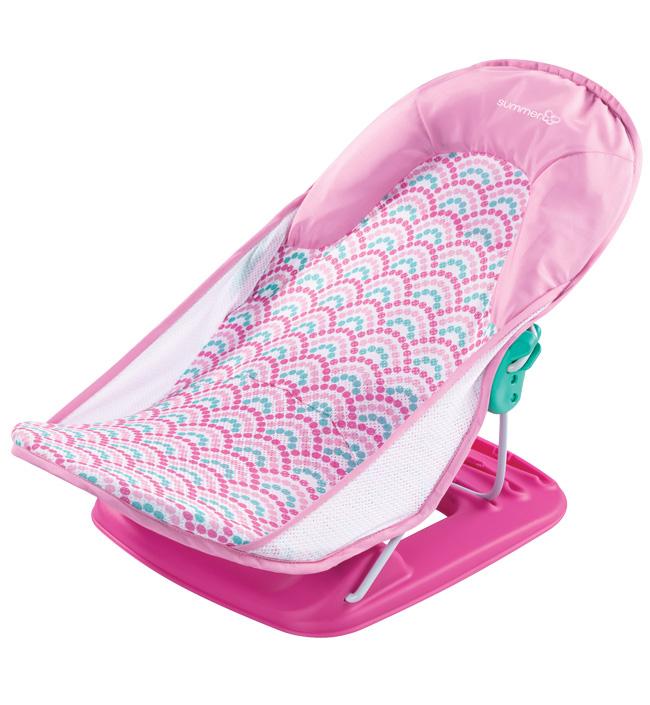 Купить Summer Infant Лежак для купания Summer Infant Deluxe Baby Bather розовый с волнами,