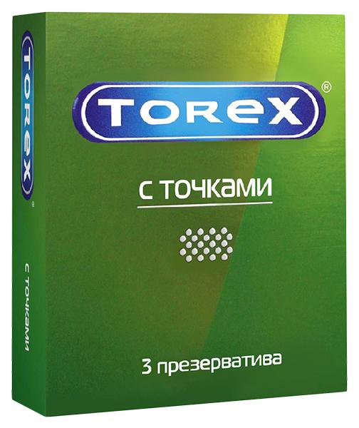 Купить Презервативы Torex со стимулирующими точками 3 шт.