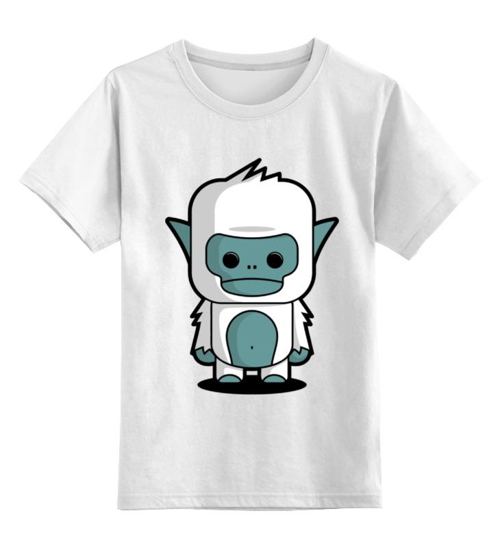 Детская футболка классическая Printio Снежный человек, р. 164 0000000708194