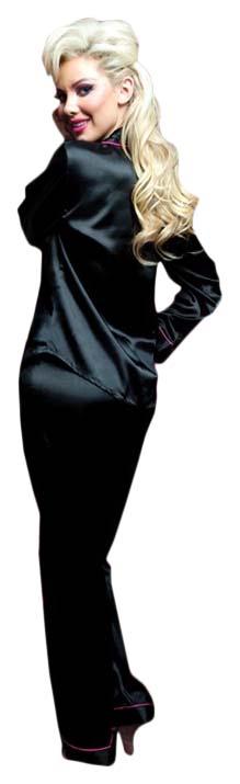 Домашняя пижама рубашка и штаны Seven`til Midnight черная