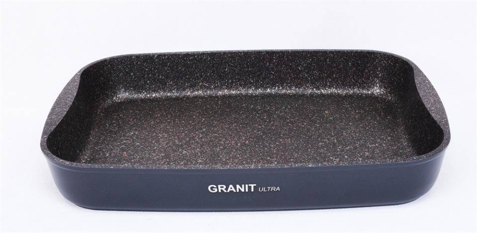 Противень антипригарная литой 36,5х26х5,5см Granit ultra original