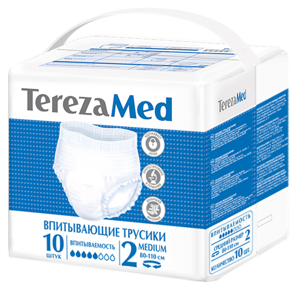 Купить TerezaMed Трусы-подгузники для взрослых р.2 medium (80-110см) N10