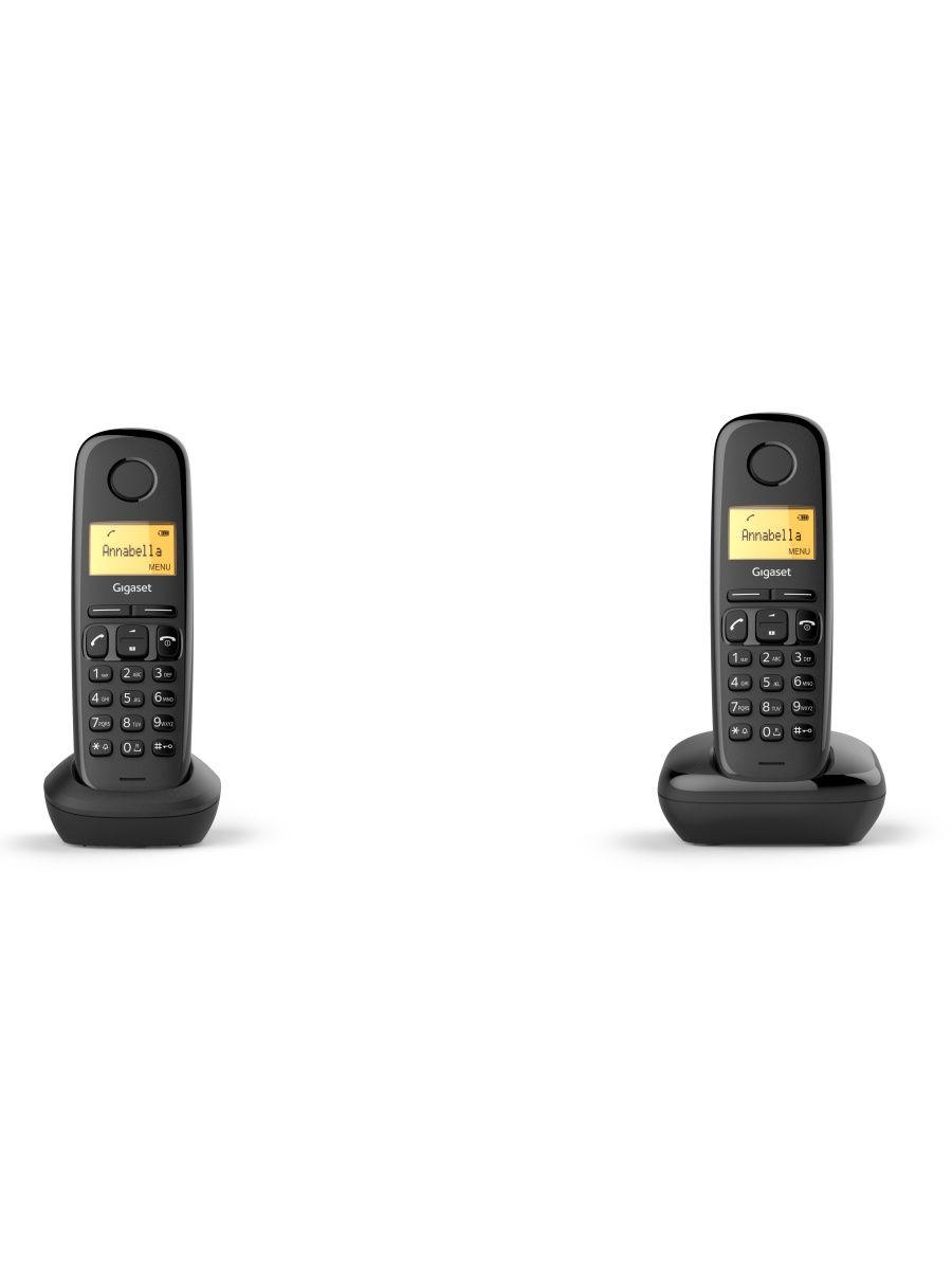 Радиотелефон Gigaset A170 DUO RUS Black