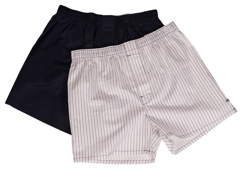 Мужские хлопковые трусы-шорты Hustler Lingerie черные и белые