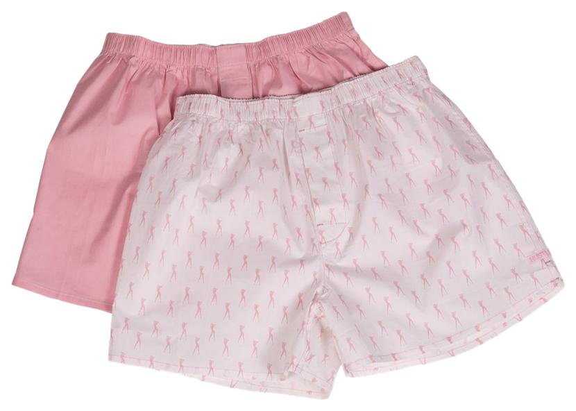 Мужские хлопковые трусы-шорты Hustler Lingerie розовые и с танцовщицами XL