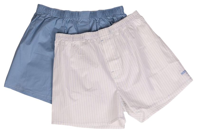 Мужские хлопковые трусы-шорты Hustler Lingerie голубые и белые M