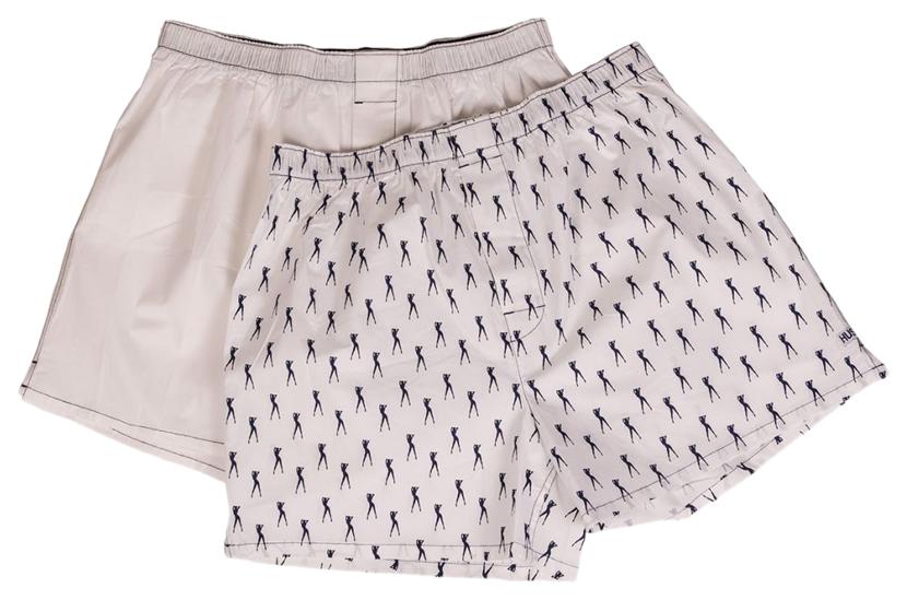 Мужские хлопковые трусы-шорты Hustler Lingerie белые и с танцовщицами S