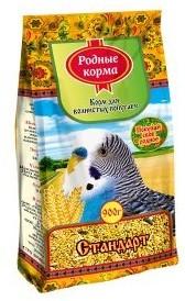 Основной корм для волнистых попугаев Родные корма