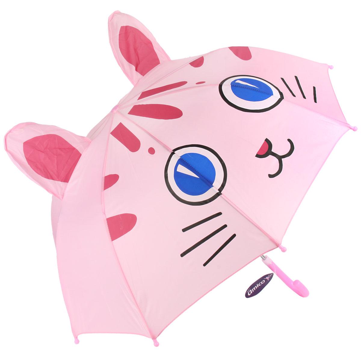 Зонт трость детский Ami&Co Котенок, длина
