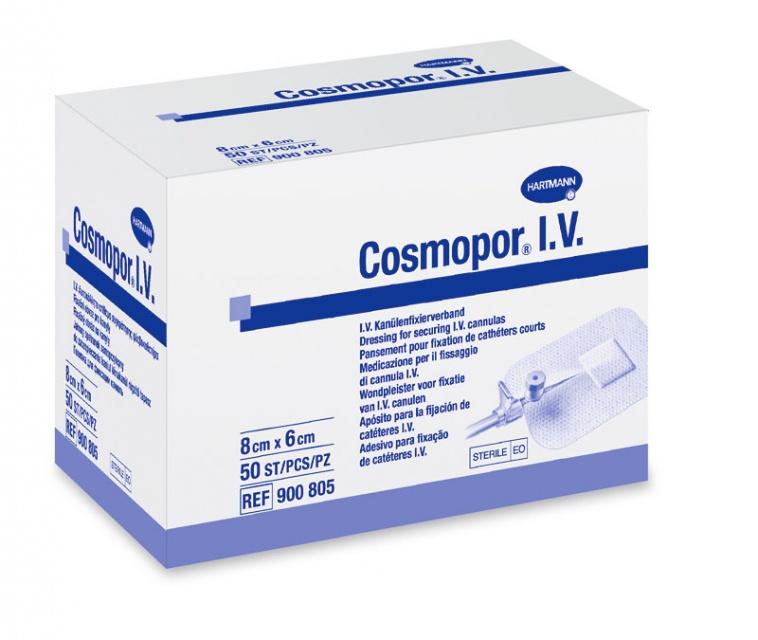 Самоклеящаяся повязка Cosmopor I.V. для фиксации катетеров