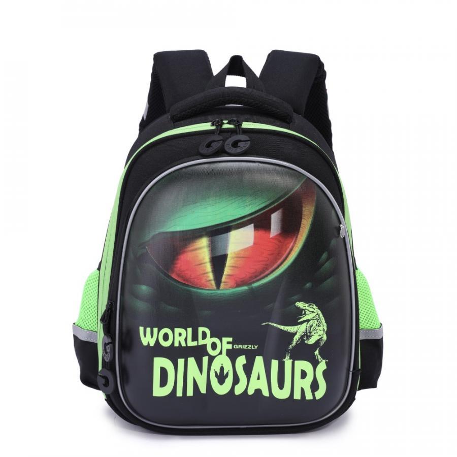 Купить Рюкзак школьный Grizzly для мальчиков Черный RA-978-3, Школьные рюкзаки для мальчиков
