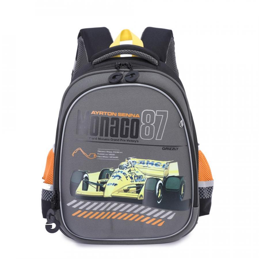 Купить Рюкзак школьный Grizzly для мальчиков Черный RA-978-2, Школьные рюкзаки для мальчиков