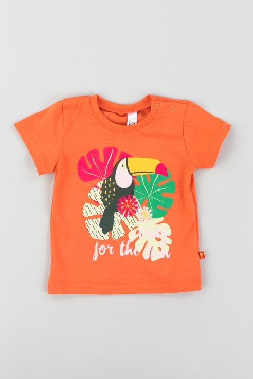 Футболка для девочки Bossa Nova, цв.оранжевый, р-р 68