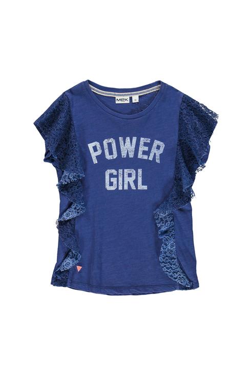 Купить 191MIFN015, Футболка для девочки MEK, цв.синий, р-р 128,