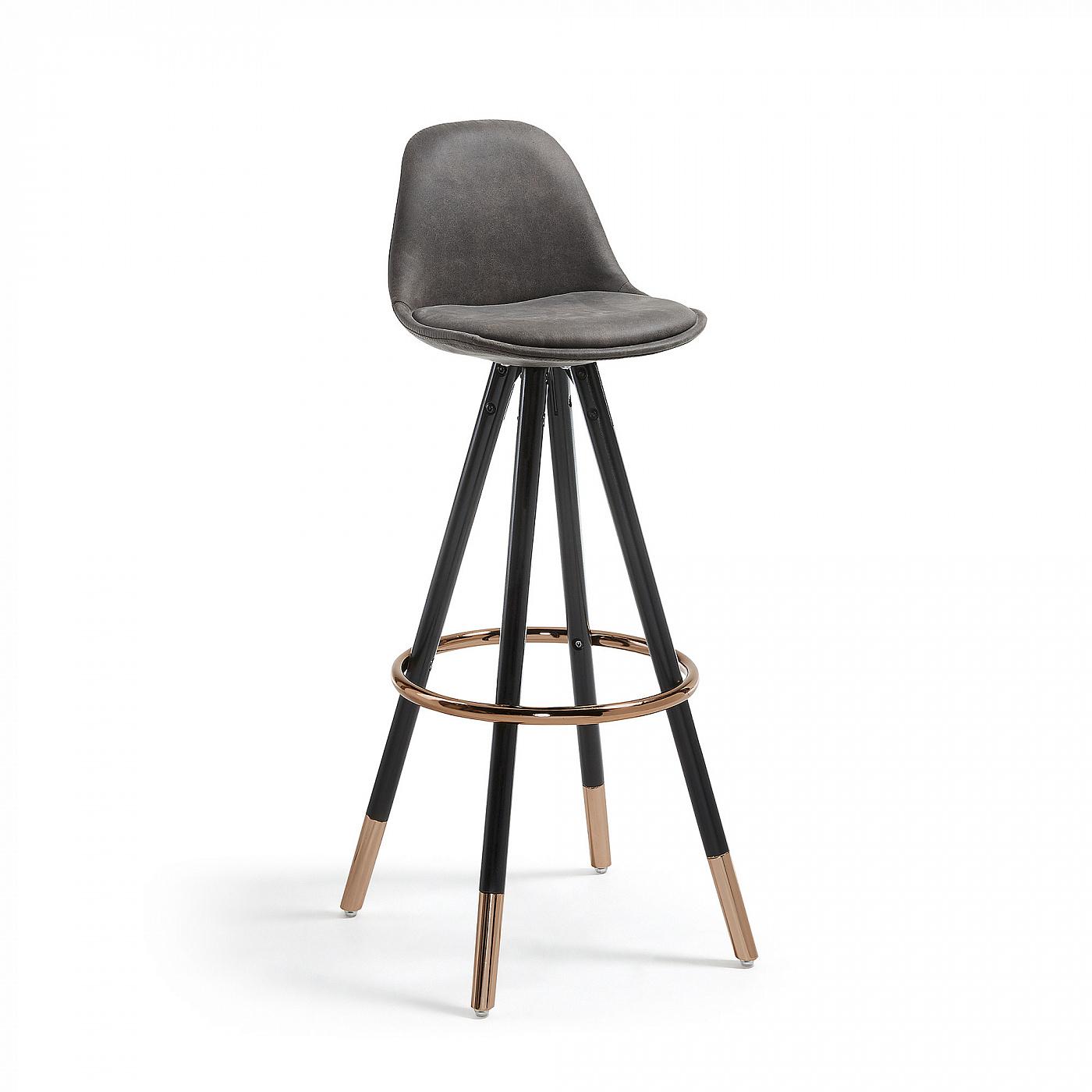 Барный стул Stag черное сидение фото