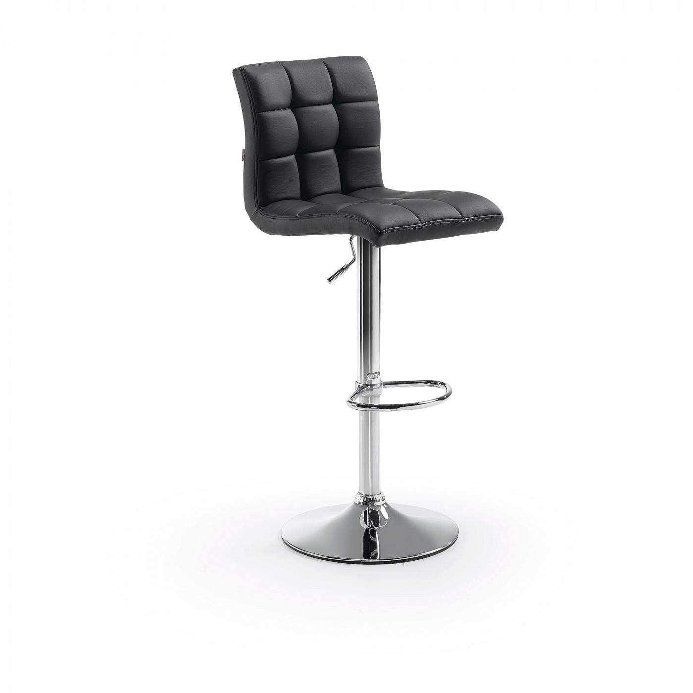 Барный стул La Forma Lodi 63467, хром/черный