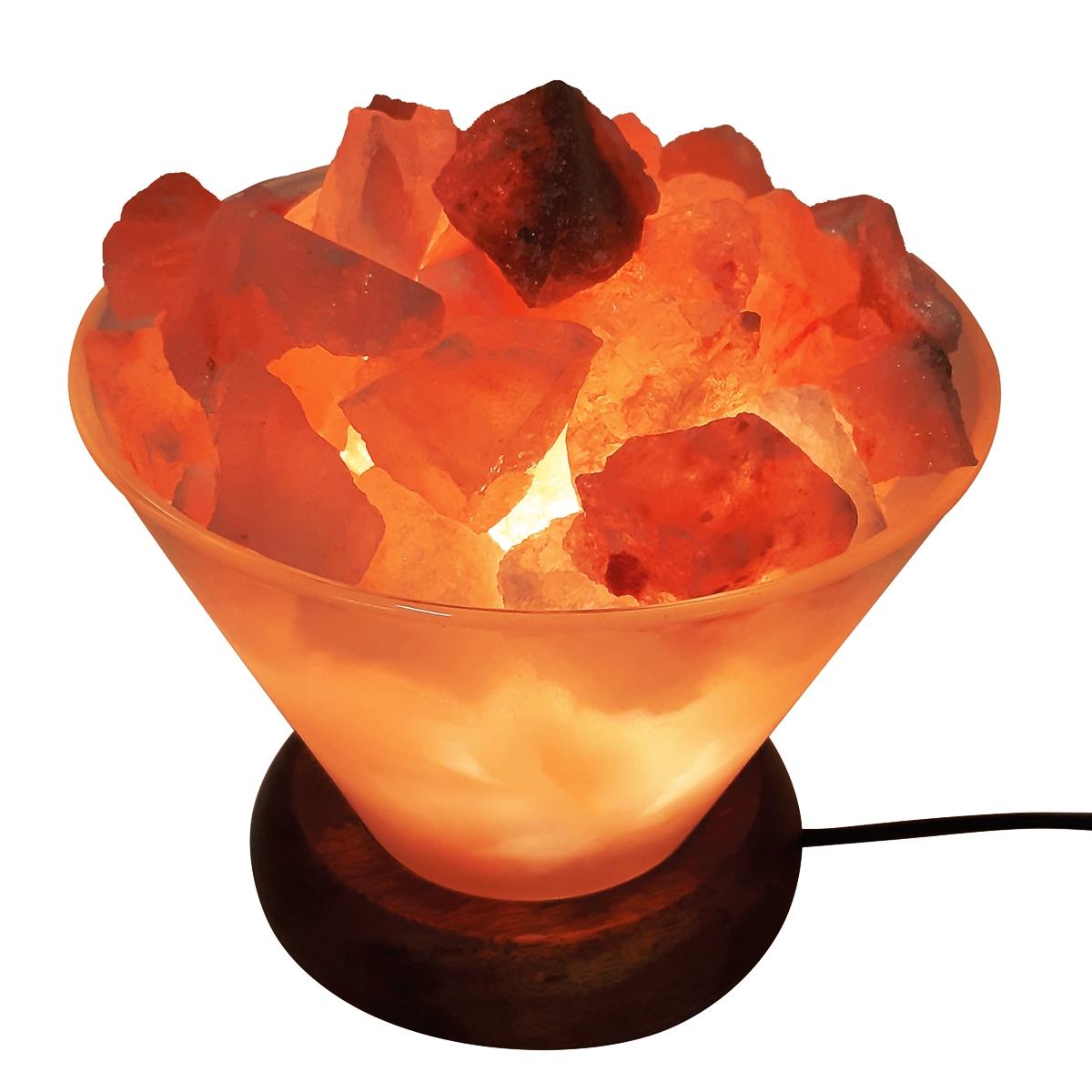 Солевая лампа «Стеклянная ВАЗА с камнями» Wonder
