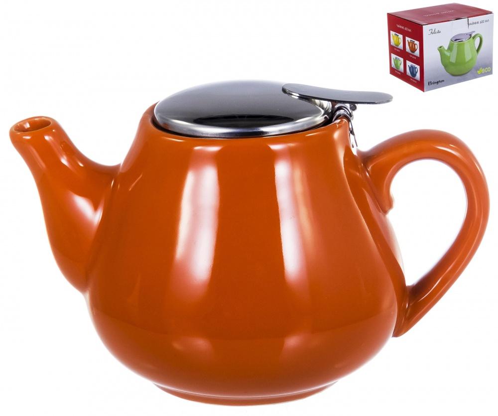 Чайник с фильтром и крышкой из нержавеющей