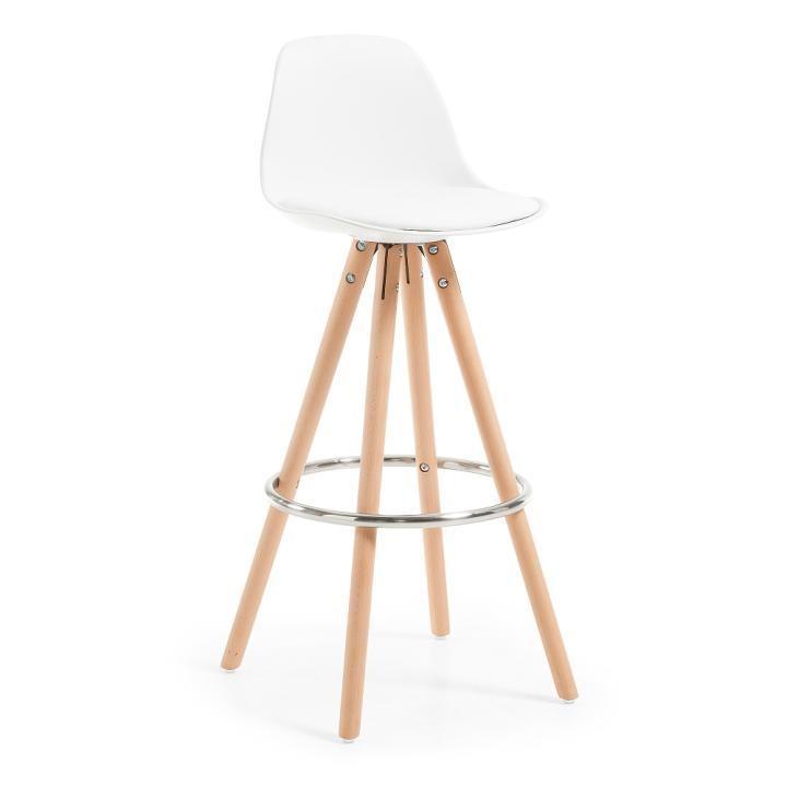 Барный стул Stag белый фото