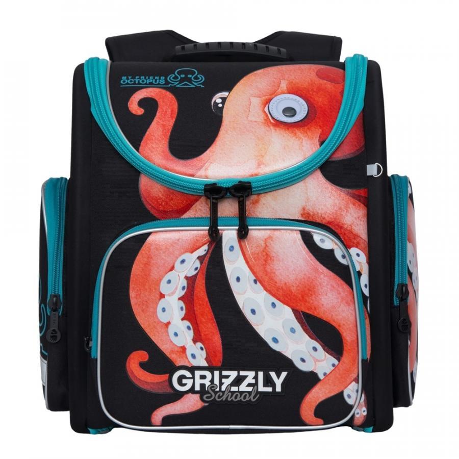 Школьный ранец Grizzly для мальчика, осьминог