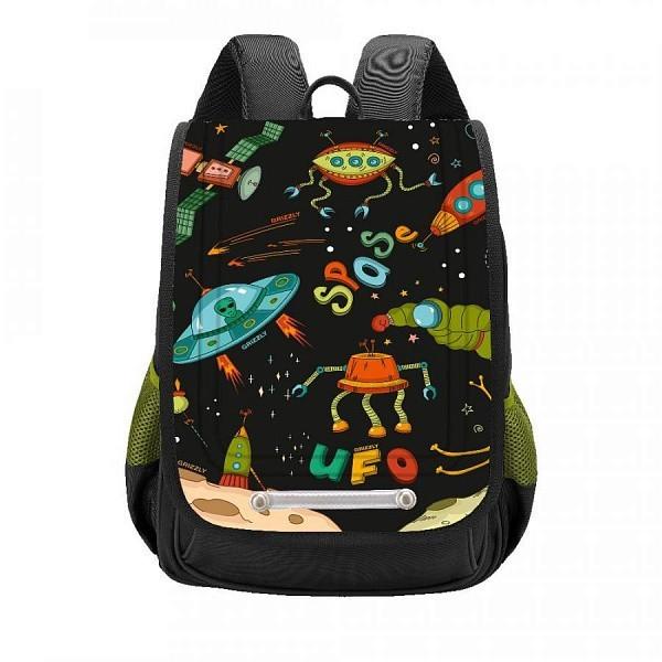 Школьный ранец Grizzly для мальчика, черный
