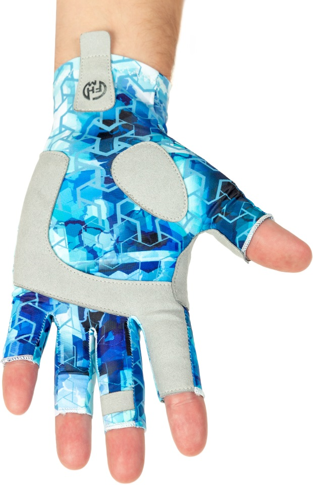 Перчатки FHM Mark, принт голубой, L Mark по цене 1 790