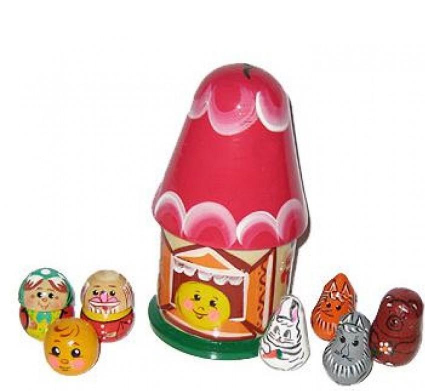 Купить Пальчиковый театр Колобок, Русские народные игрушки,