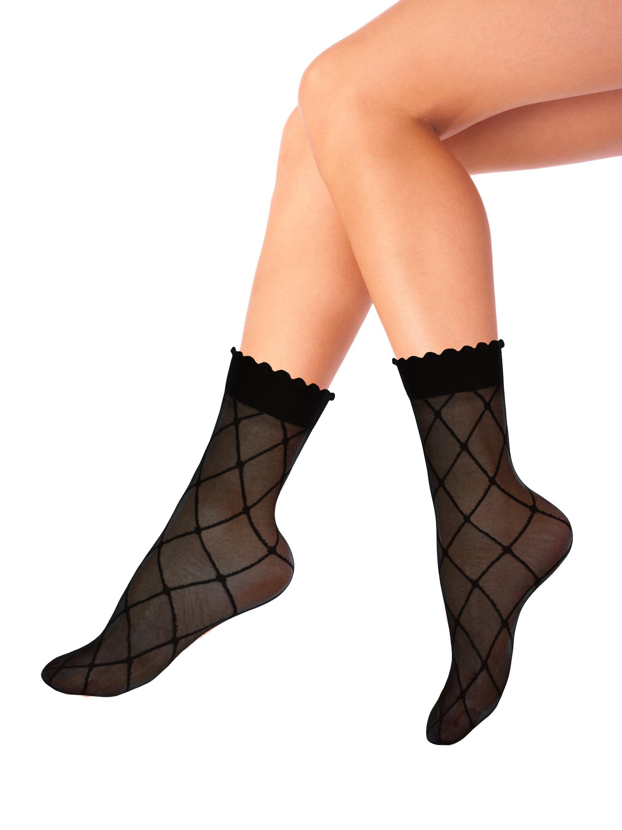 Капроновые носки женские Mademoiselle Cube (c.) черные UNICA