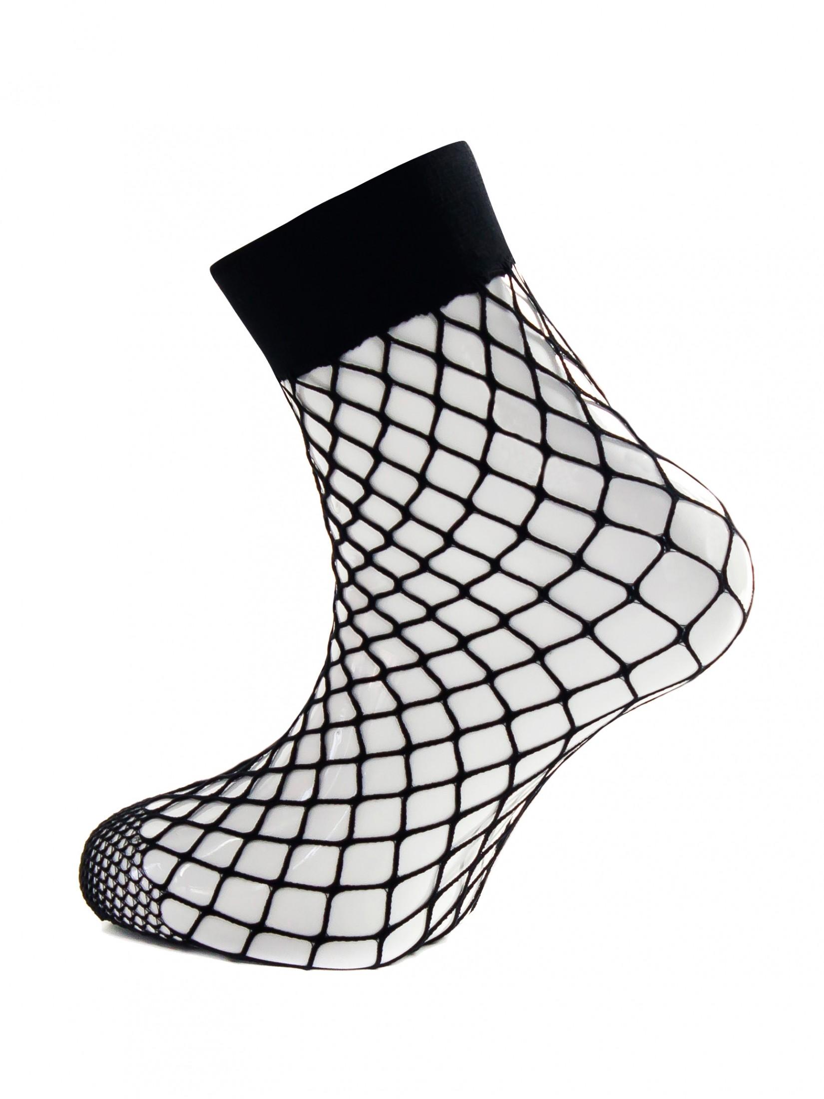 Капроновые носки женские Mademoiselle Rete Grande (c.) черные UNICA
