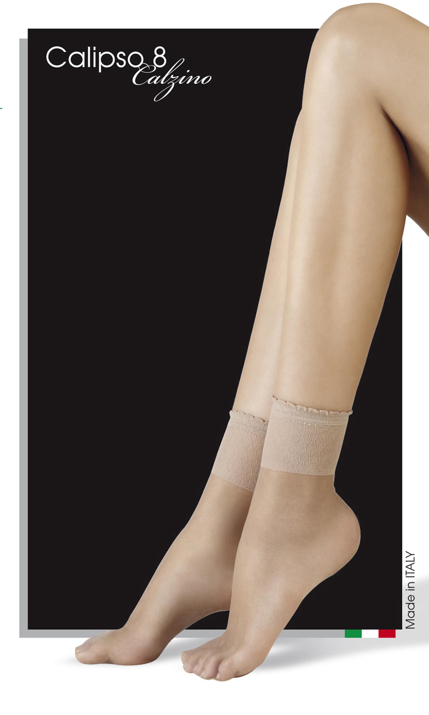 Комплект капроновых носков женский Mademoiselle Calipso 8 (c.) 2 p. бежевый UNICA