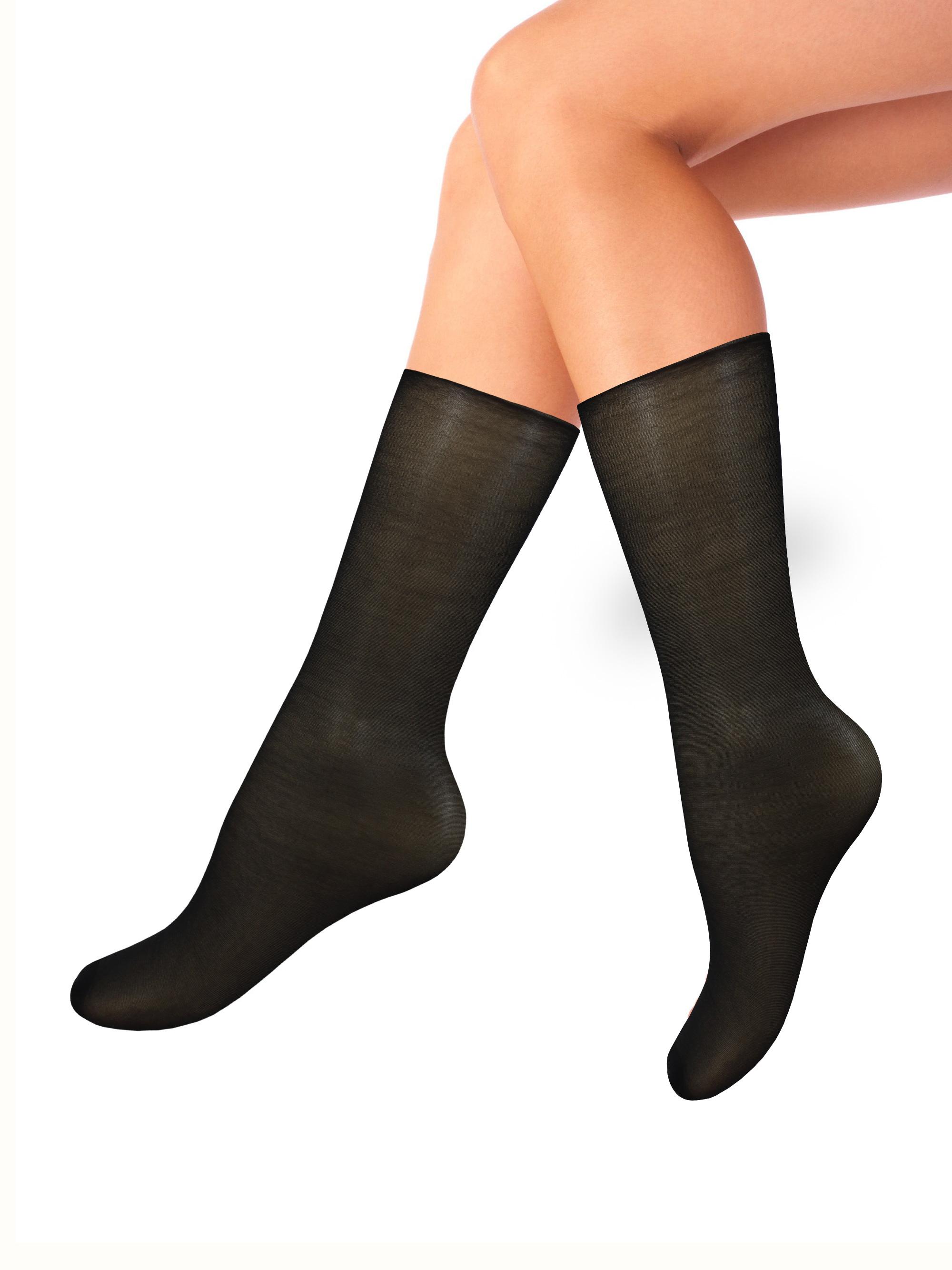 Капроновые носки женские Mademoiselle Jack (c.) Mad. черные UNICA