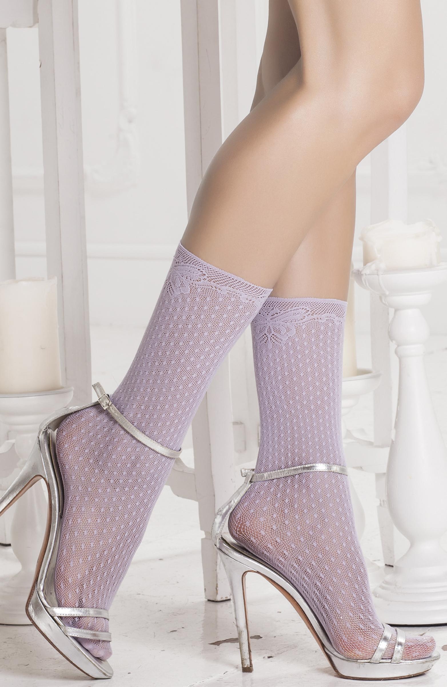 Капроновые носки женские Trasparenze Euphydryas бежевые UNICA
