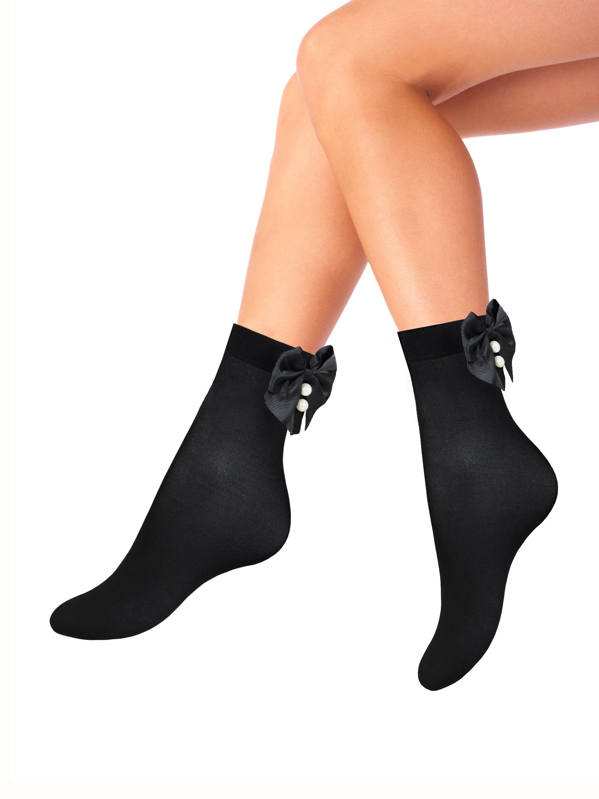 Капроновые носки женские Mademoiselle Bow (c.) черные UNICA