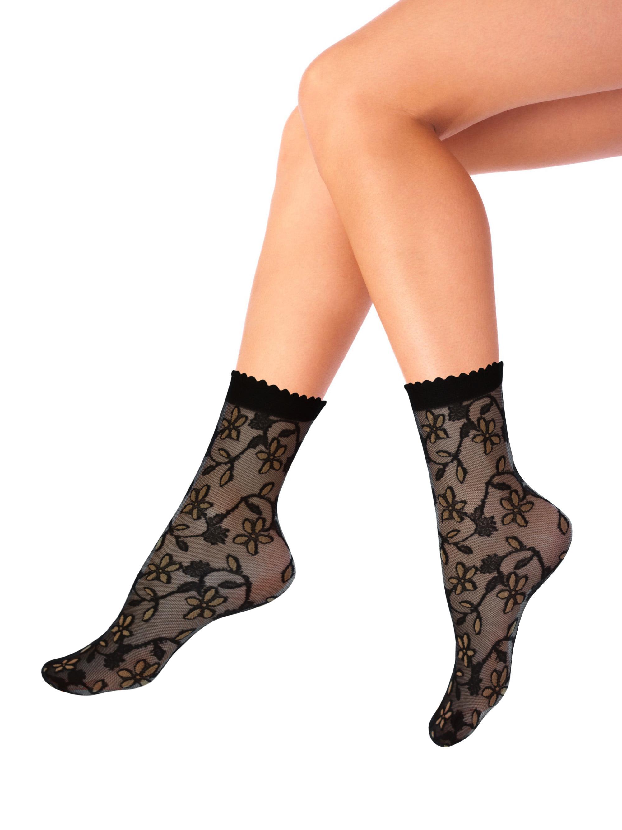 Капроновые носки женские Mademoiselle Campanula (c.) бежевые UNICA