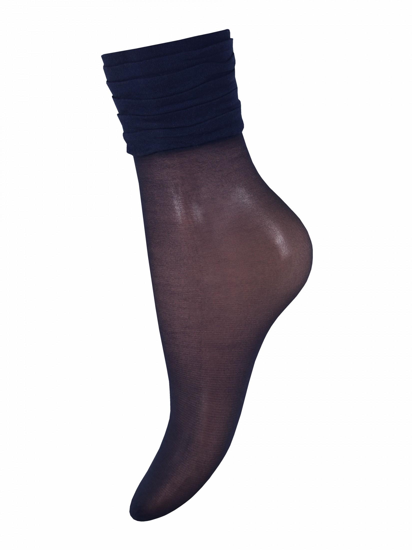 Капроновые носки женские Mademoiselle Samba синие UNICA