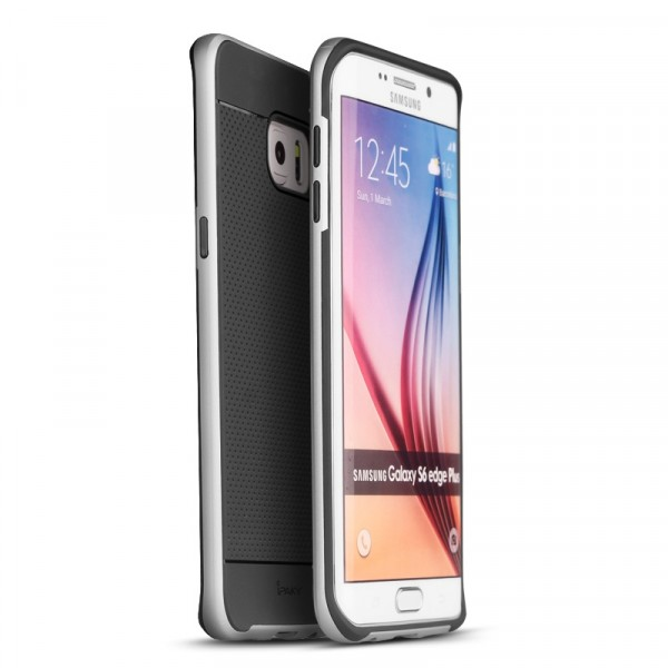 Чехол iPaky +PC для Samsung Galaxy S6 Edge Plus Black/Silver