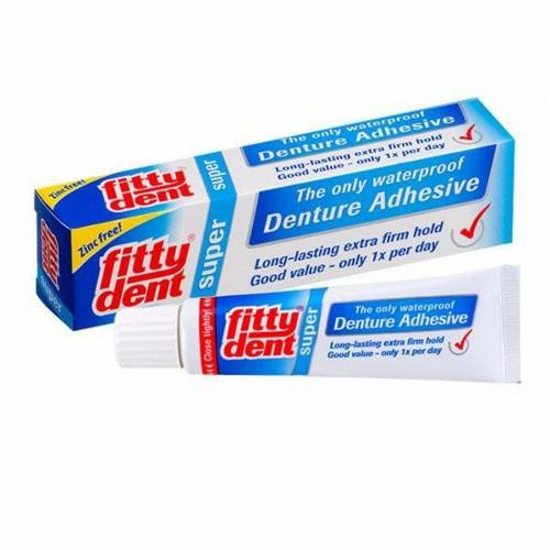 Фиксирующий крем для супер фиксации съемных зубных