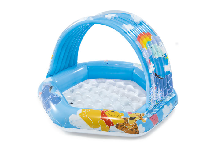 Купить Надувной бассейн Intex Винни Пух с навесом, 109х102 см, Детские бассейны