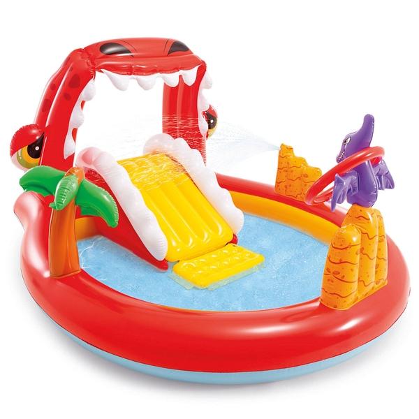 Купить Надувной бассейн Intex Веселый динозаврик, 196х170х107 см, Детские бассейны